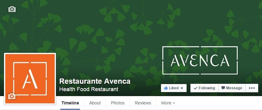 Restaurante Avenca no Facebook