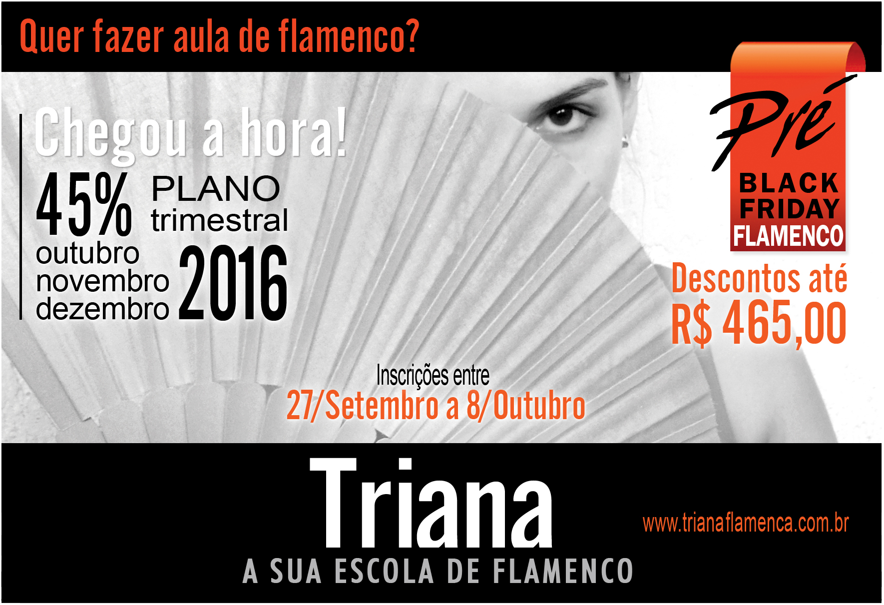 Triana aulas de flamenco no Pre Black Friday com Andrea Guelpa