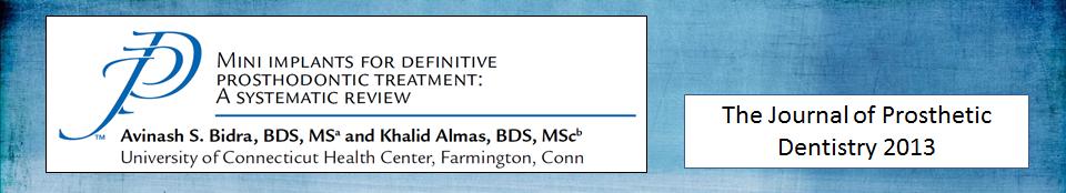 revisão sistemática sobre mini implantes dentarios