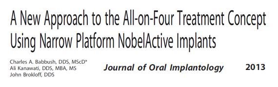 Nova abordagem acerca do uso de implantes dentários de plataforma estreita