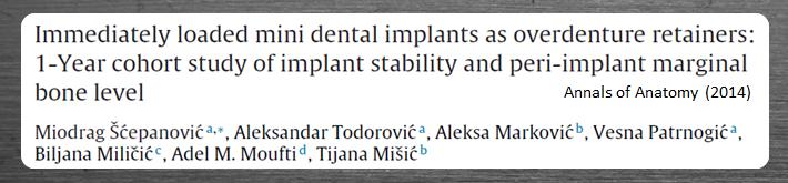 Carga imediata em mini implantes dentais